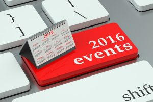2016 events concept on the keyboard