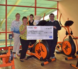 Cheque is presented at Geoff Moulder Leisure Complex